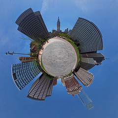 Love Park (sonic182) Tags: philadelphia usa love park stereographic stereographical projection little planet city hall sign statue usa2018