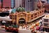 Flinders Street Station - Lego (sonofwalrus) Tags: canon eos7d slr lego melbourne legolanddiscoverycentre australia model flindersstreetstation station street building tram flindersstreet city minifigures