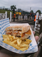Fish finger sandwich (Phil_Parker) Tags: food chip railway fast lunch grub dinner train