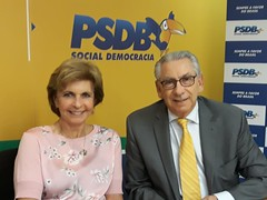 13/06/18 - Reunião na Executiva do Partido com o tesoureiro do PSDB, deputado federal Silvio Torres