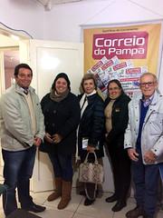 15/06/18 - Visita e entrevista para o Jornal Correio do Pampa em Santana do Livramento, acompanhada do Maurício Del Fabro (Galo), Foguinho e amigos.