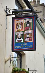 "Pub sign, ""The Four Alls"", Caernarfon, Wales (Baz Richardson (now away until 26 Oct)) Tags: wales caernarfon pubsigns thefourallspalacestreetcaernarfon thefouralls"