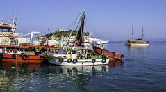 Fishers variations (Tony Tomlin) Tags: kusadasi turkey fishingboats fishingharbour mediterranean