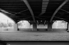 Under the bridge (suxarik) Tags: nikon s2 nikons2 rf rangefinder nikonrangefinder nikkor film bw xtol blackandwhite blackwhite monochrome diy selfdeveloped handdeveloped polypan polypanf iso50 scanned minolta minoltadimagescanelite5400 expired