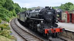 U.S.A. (_J @BRX) Tags: d5100 nikon railway rail railroad engineshed train locomotive diesel shunter yard track kwvr keighleyworthvalleyrailway haworth yorkshire england uk june 2018 spring steam usa tender