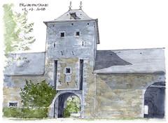 Froidefontaine (gerard michel) Tags: belgium namur condroz ferme château architecture sketch croquis aquarelle watercolour
