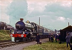 7029, Tyseley Open Day, September 1968 (David Rostance) Tags: 7029 castleclass gwr tyseley engineshed birmingham