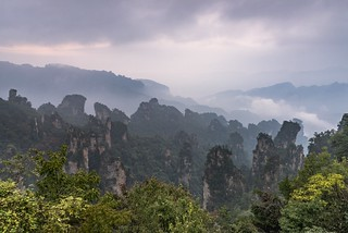 *Zhangjiajie National Park @ twilight*