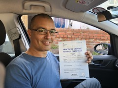 Massive congratulations to Giuseppe Polvo Vitolo passing his practical test on his first attempt with only 1 minor fault.  www.leosdrivingschool.com