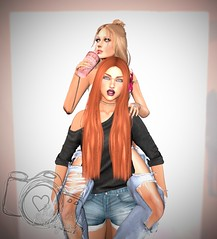 Sisters (QuinsRose) Tags: lumipro lumi family friends love home personal secondlife pose photography sl