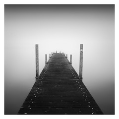 Dive into the clouds (Marco Maljaars) Tags: seascape waterscape water monochrome jetty markermeer marcomaljaars mood wood poles light blackandwhite bw long exposure le