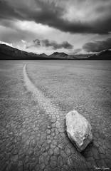 End of the Line (Sarah Marino) Tags: deathvalleynationalpark deathvalley desert mojavedesert california nature blackwhite racetrack playa