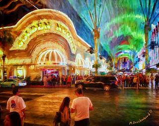 The Golden Nugget Casino on Fremont Street, Las Vegas NV