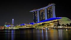Marina Bay Sands, Singapore (LezlieN) Tags: bay singapore marinabaysands artsciencemuseum