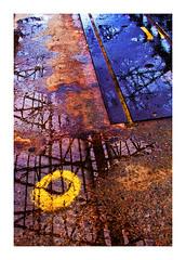 après la pluie, (machines en l'île) (Marie Hacene) Tags: nantes pluie reflets rond couleurs lignes graphisme
