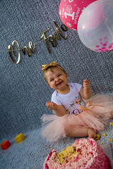 Baby Zayla-28 (Andy barclay) Tags: baby happy birthday 1st toddler girl cake smash one first smile messy portrait young pink