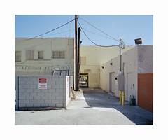 ** (ha*voc) Tags: mamiya7ii 65mm rangefinder film 120 mediumformat 6x7 kodakektar100 urban urbanfragments california usa palmsprings mundane silence
