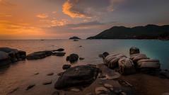 Koh Tao Thailand (franciscobarongarcia) Tags: sony a7 landscape beach stone yellow orange lagun mountain ship full frame blue thailand