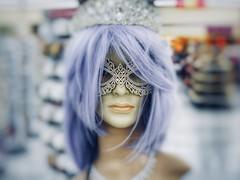 Plasticated (Robert Cowlishaw (Mertonian)) Tags: mask shallow purplepastel fashionista mannequin robertcowlishaw mertonian canonpowershotg1xmarkiii markiii g1x purple canon plasticated face