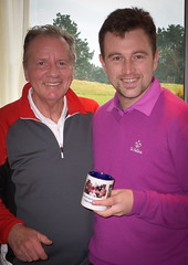 Organiser Neville presenting Cameron with a little memento of his time here (Neville Wootton Photography) Tags: cameronkenworthy golfsectionmens nevillewootton stmelliongolfclub stmellionrollup saintmellion england unitedkingdom