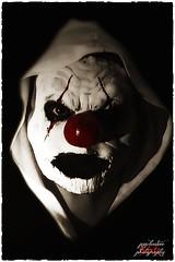 Clown face (psychosteve-2) Tags: clown face makeup halloween red nose horror blackwhite hoodie