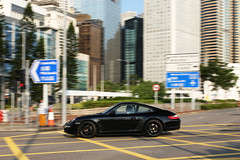 Porsche, 997, Central, Hong Kong (Daryl Chapman Photography) Tags: fs2168 porsche 997 carrera black pan panning canon 5d mkiii sigma art f14 auto autos automobile automobiles car cars carspotting carphotography