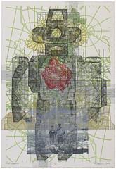 Robot Memory (Marc Bosworth) Tags: marcbosworth artist wichita kansas painting mixedmedia acrylic foundobjects collage printmaking lino linoleumblock reliefprinting collagraph screenprint
