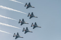 Inverted formation (LEXPIX_) Tags: lexpix 200500 d500 nikon afb westover airshow england new great 2018 demo f16 demonstration preflight thunderbirds usaf diamond roll flight aerobatics