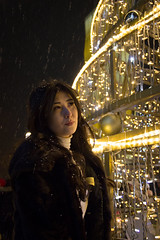* (gumerov_97) Tags: girl winter night light dark color contrast portrait helios442 bokeh photography photo nice pic picture almaty canon canoneos650d