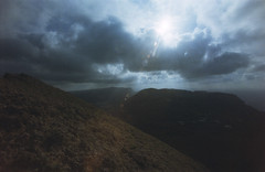 (xbacksteinx) Tags: canonef 35mm analog slr fd17mmf4 17mm colornegative c41 expired film agfacolor xrg 200 agfa lanzarote winter hiking volcano landscape sun clouds mood moody grain grainy
