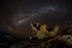 Stars over the Rock (theamateurphotographer402) Tags: milkyway astrophtography kangaroo island night time about adelaide fuji xpro 1 samyang 8mm fisheye photography