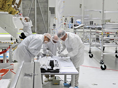 Radiator fin inspection (europeanspaceagency) Tags: esa europeanspaceagency space universe cosmos spacescience science spacetechnology tech technology bepicolombo bepi journey animation cartoons mercury solarsystem adventures jaxa spacecraft clean room cleanroom white radiator engineers engineer
