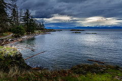 Neck Point bluff overlook (kellypettit) Tags: canada nanaimo cloudy gray neckpoint ocean sea vancovuerisland water westcoast winter