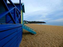 All Quiet on Mt. Martha Beach (Diepflingerbahn) Tags: mtmartha victoria beach beachcabins sand portphillipbay morningtonpeninsula panasoniclumixdmctz80