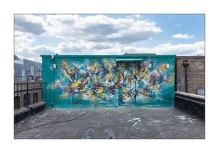 Street Art (Mr Jiver), East London, England.