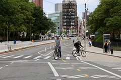Park Row Bike and Pedestrian Path Ribbon Cutting 6-22-18 (NYCDOT) Tags: parkrow congresswomannydiavelázquez statesenatorbriankavanagh assemblymemberyuhlineniou councilmembermargaretchin lowermanhattan nypd bikenyc