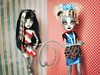 B-Side Baby (GothGeekBasterd) Tags: werecat doll cat cats meowlody purrsephone pin up twins tails gray monsterhigh fearleading set zombie shake ghoulia yelps freak ghoul