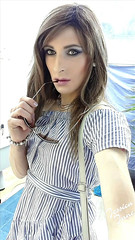 Stripes & Shades (jessicajane9) Tags: tg crossdresser tgurl cd transvestite m2f tranny crossdressing lgbt crossdress transgender feminization tv trans xdress tgirl