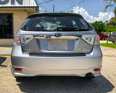 2010 Subaru Outback Sport (Harold Brown) Tags: 2010 2010outbacksport automobile car florida impreza orangepark outback outdoor silver sky sport summer taillights transportation usa vehicle bhagavideocom clouds fl haroldbrowncom harolddashbrowncom iphonex photosbhagavideocom twotone haroldbrown