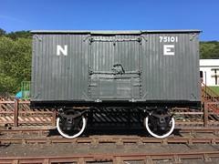 NER box van 75101 back on its wheels 1Jul18