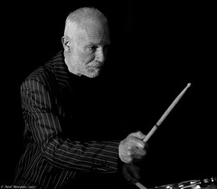 Drum Stick (Neil. Moralee) Tags: anything but thatneilmoralee drummer man old mature musician drumstick stick jacket stripes beard stuble flask nikon player band music live neil morlee black white mono monochrome bw bandw blackandwhite group pop rock jazz blues hemyock tone sound loud beat d7100