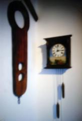 AT 3 P. M. IN THE CASTLE (LitterART) Tags: uhr clock halsgeige schärding schloss castle pinhole fujifilm