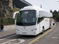 Fairline Coaches of Glasgow Scania K360IB4 Irizar i6 YR15VBD, in Trafalgar Tours livery, at Johnston Terrace, Edinburgh, on 26 June 2018. (Robin Dickson 1) Tags: busesedinburgh fairlinecoaches dunwoodtravelofdudley scaniak360ib4 irizari6 yr15vbd trafalgartours