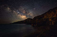 The Island (free3yourmind) Tags: island greece greek bay beach sea milky way night sky dark skies stars starry kythera kythira cythera