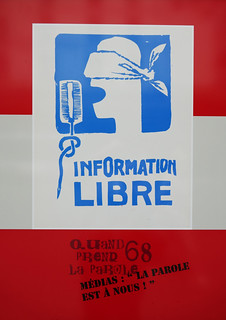 Information libre - poster from 1968 in Paris