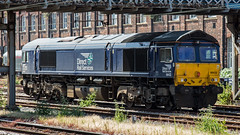 66432 (JOHN BRACE) Tags: 2008 gmemd london canada built co class 66 loco 66432 seen stabled doncaster drs direct rail services livery
