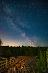 Milky Way over the trestle July 2018 (cdnfish) Tags: duncan britishcolumbia canada ca kinsoltrestle trestle kinsol shawniganlake bc cowichanvalley cowichan cobblehill vancouverisland a7m2 astrophotography astro night nightphotography nightscape lightpainting landscape landscapephotography longexposure longexposures milkyway galacticcenter sony sonya7m2 minolta1735 wideangle