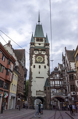 The Martinstor (l4ts) Tags: europe germany badenwürttemberg blackforest freiburg citycentre themartinstor gate tramtracks medieval