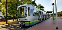Tw 2556 der Üstra als Linie 1 nach Langenhagen an der Endstelle Sarstedt (claudio.bickel98) Tags: sarstedt niedersachsen stadtbahn tw2500 üstra linie1 endstelle öpnv publictransport