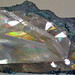 Calcite with two-beam interference colors & native copper (late Mesoproterozoic mineralization age, 1.05-1.06 Ga; Upper Peninsula of Michigan, USA) 5